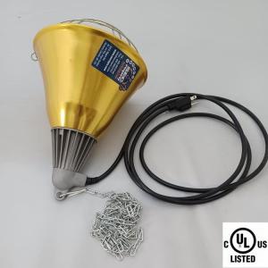 Fixture / golden lampshade